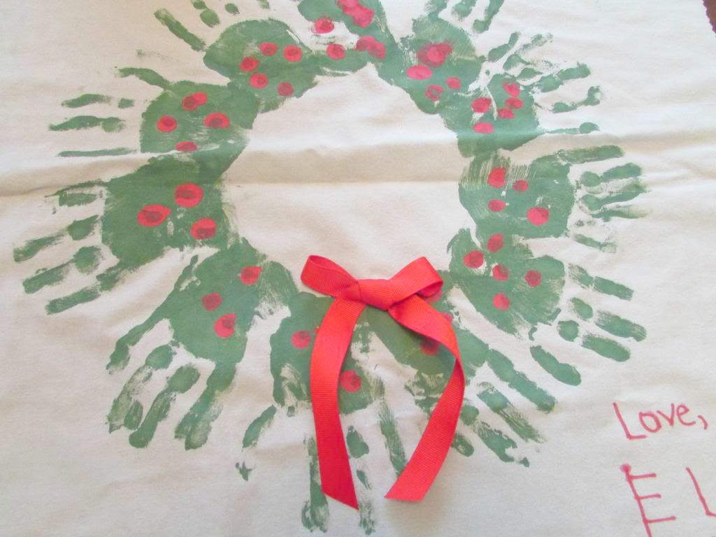 Christmas Handprint Wreath Homemade Gift Idea Teach