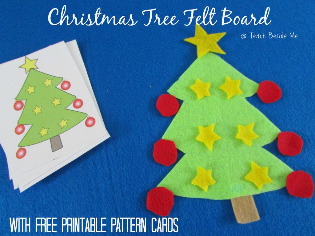 Christmas Tree Felt Board With Printable Cards