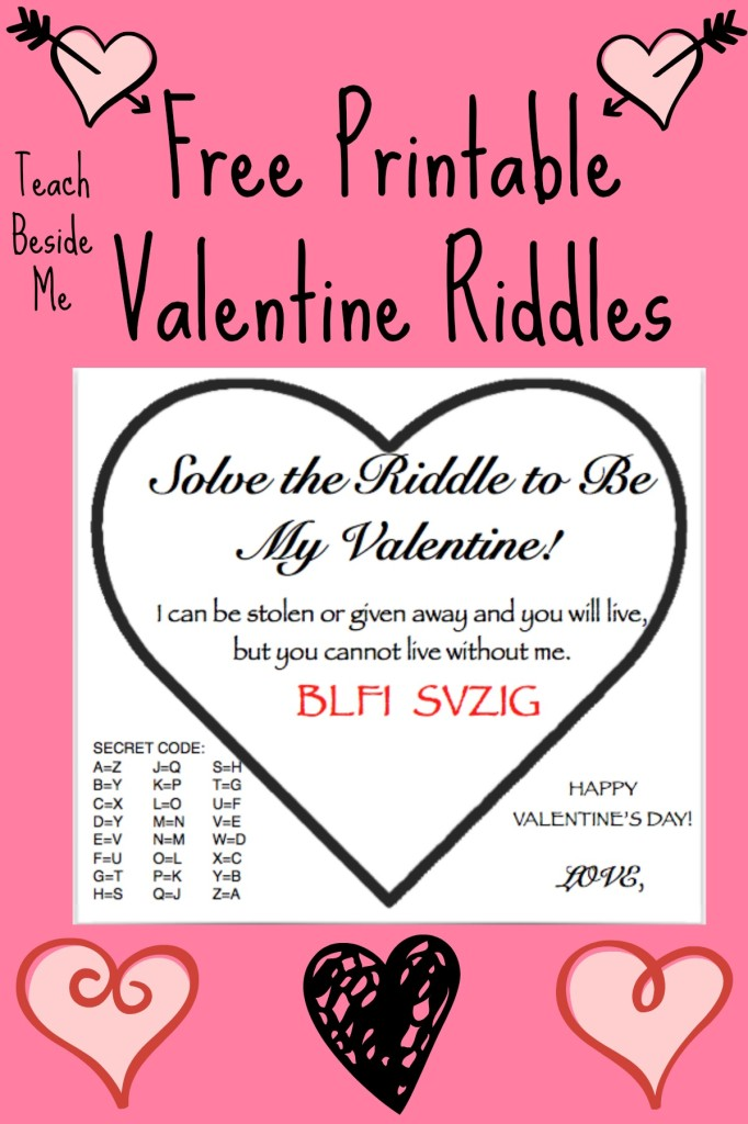 Free Printable Valentine Riddle Cards Teach Beside Me