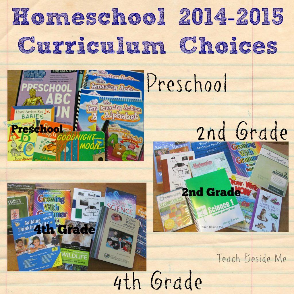Homeschool Curriculum Choices Pre K 2nd 4th