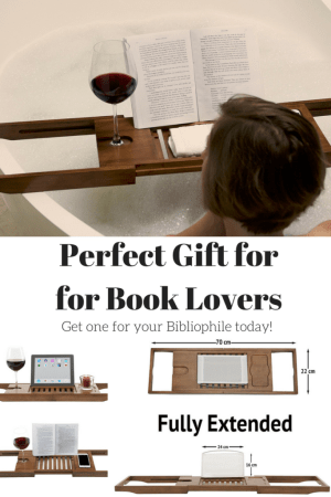 11  Non Book  Gifts for Readers     Teach Beside Me Book Caddy for bathtub  reader gift