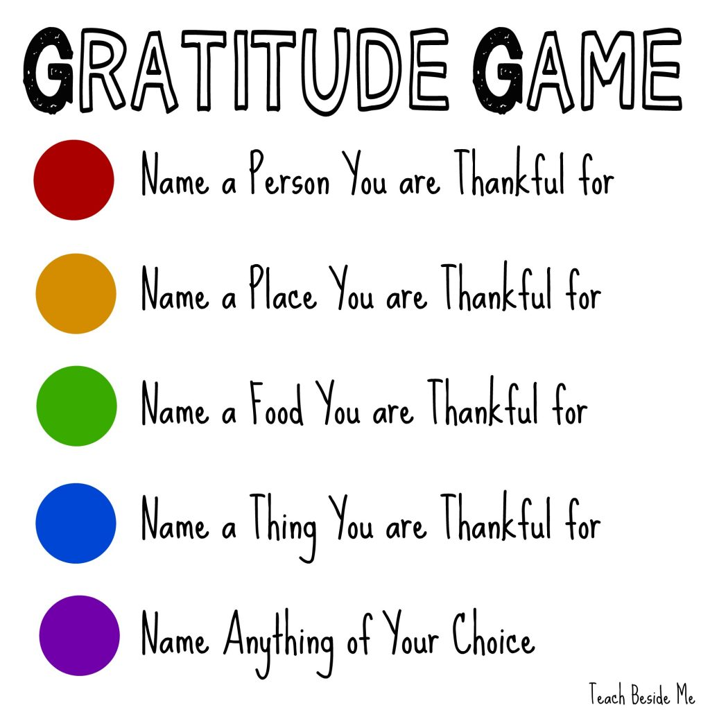The Gratitude Game Pick Up Sticks