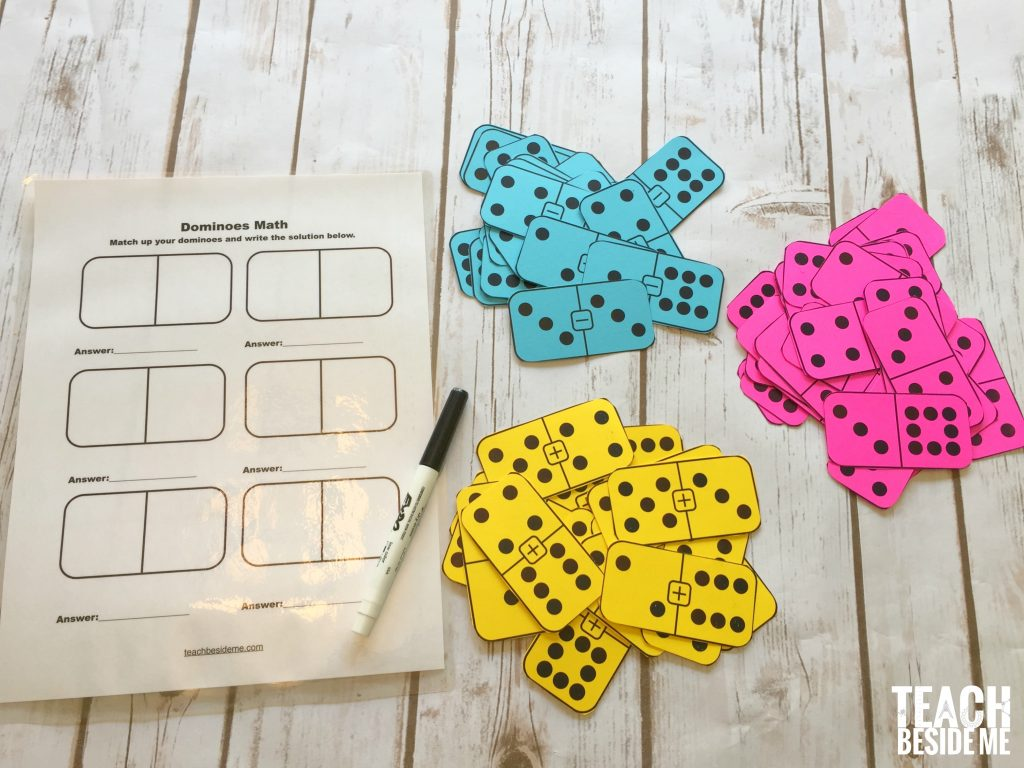 Printable Math Dominoes For Addition Subtraction