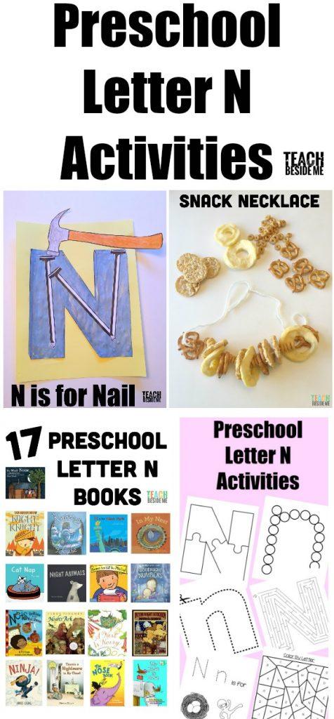 Preschool Letter N Activities