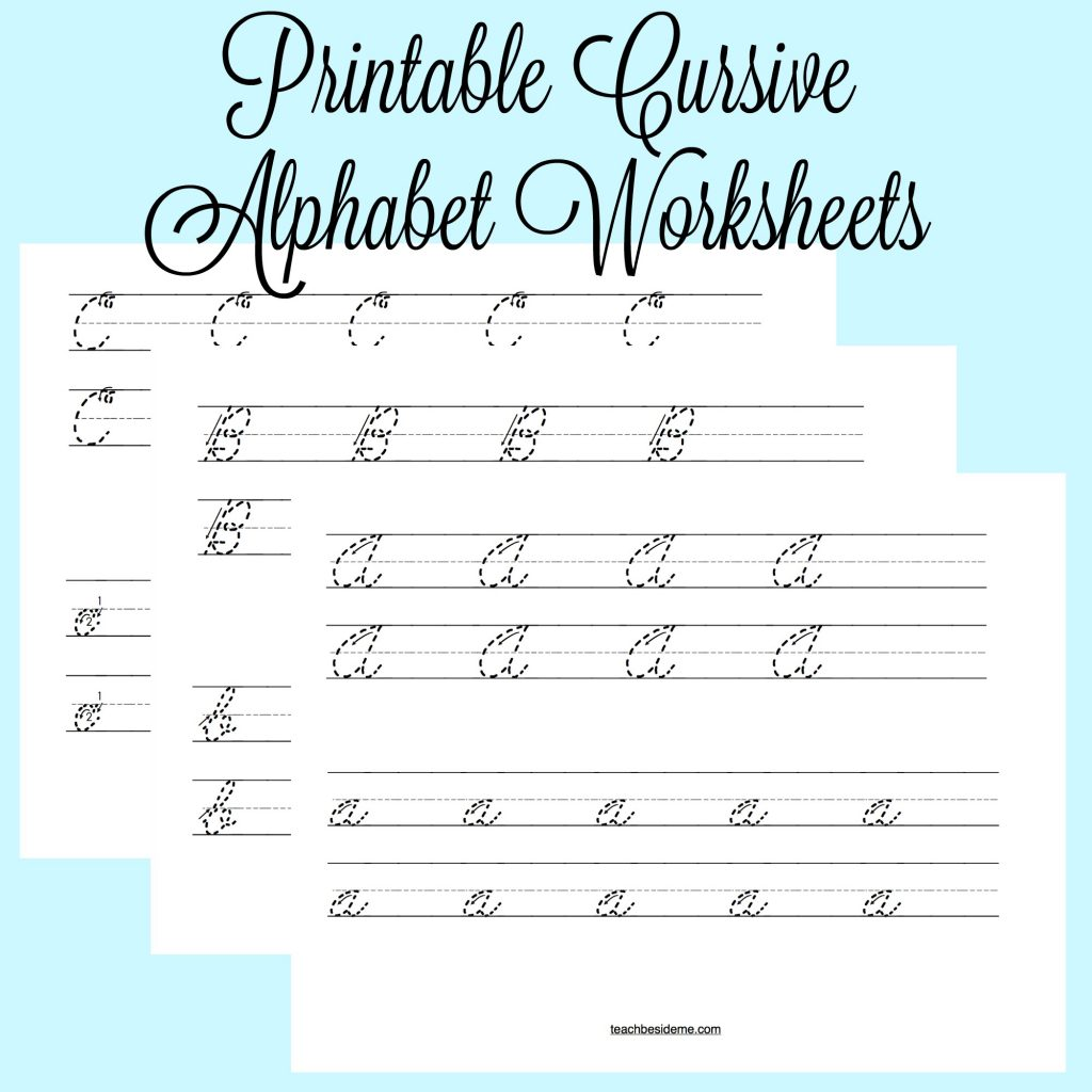 Cursive Worksheet Printable Names