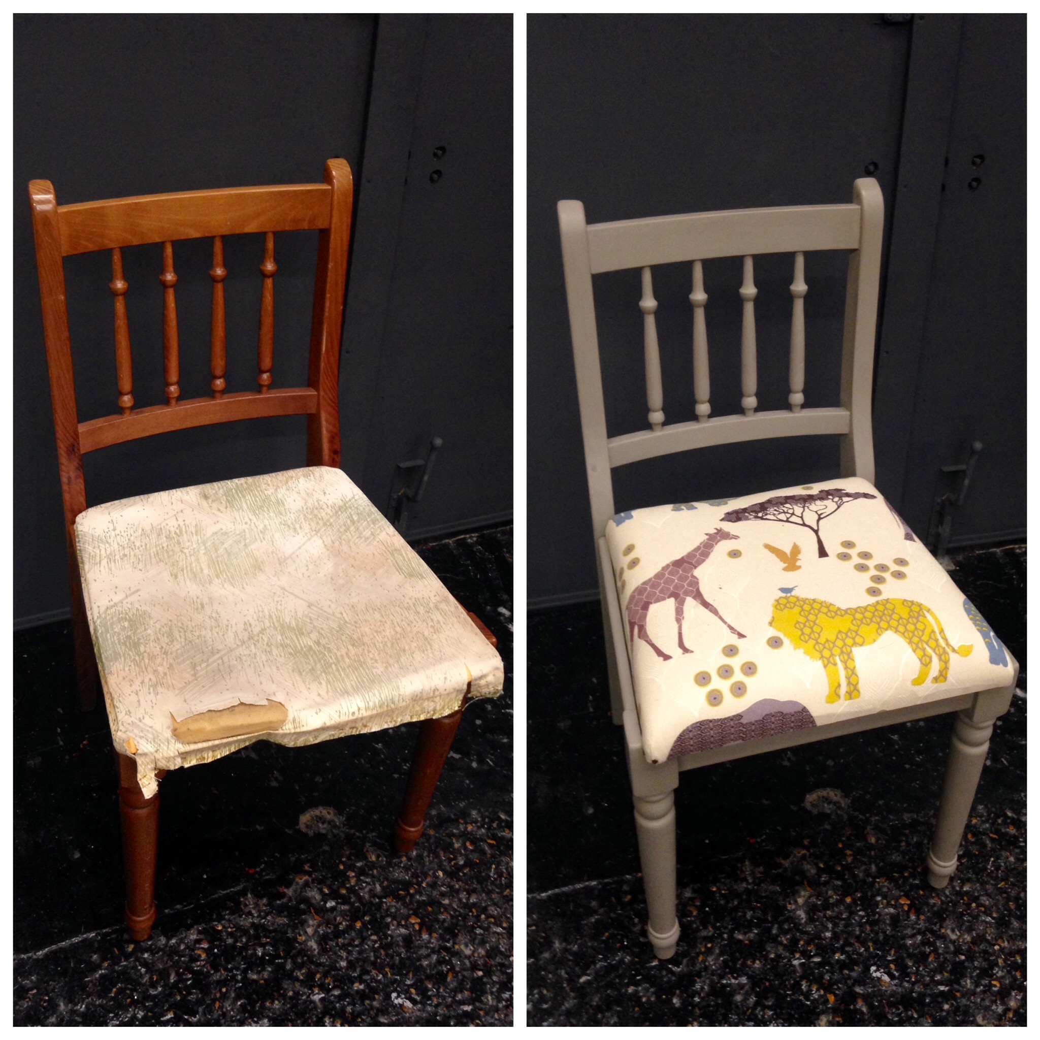 Before Amp After Of An Upcycled Chair Teach Craft Revolution