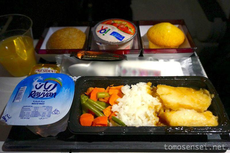 【カタール航空機内食】QR834/DOH-BKK/ドーハ-バンコク(スワンナプーム)