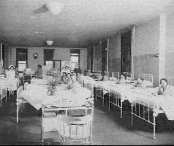 dormitories at Ellis Island