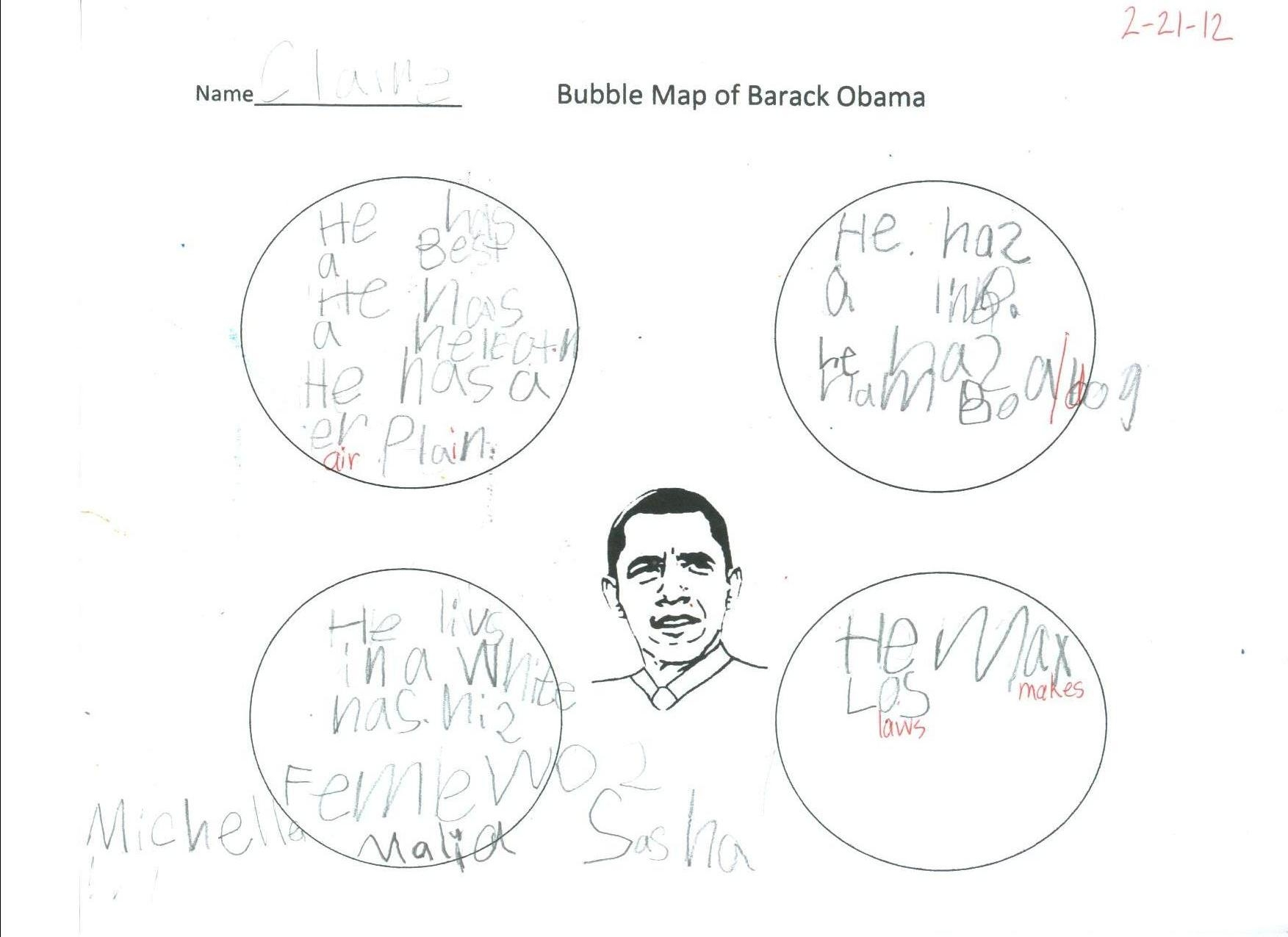 Bubble Map Of President Obama