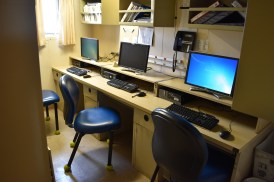 Computer room for Shimada's crew