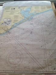 Paper navigational chart