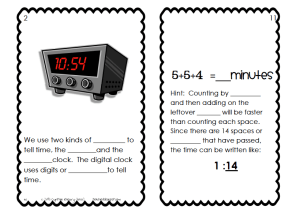 Clock Booklet