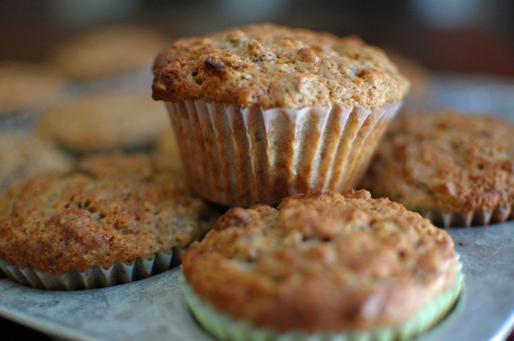 Banana Nut Muffins with Bran (1/6)