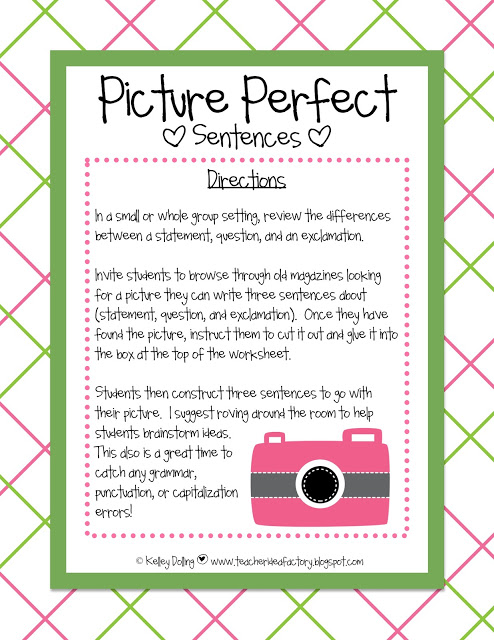 PICTURE PERFECT FREEBIE