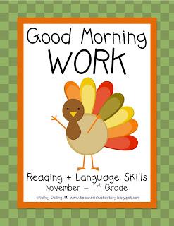 GOOD MORNING WORK - NOVEMBER + FREEBIES - Teacher Idea Factory