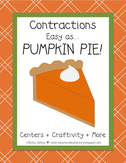 CONTRACTIONS . . . AS EASY AS PUMPKIN PIE