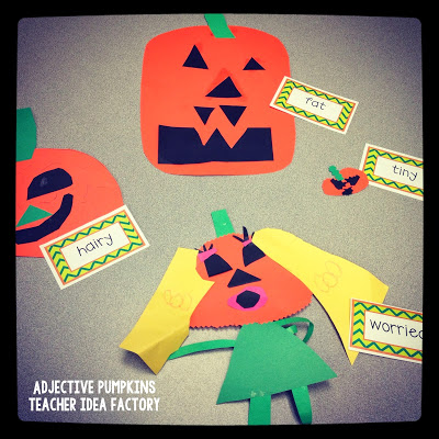 ADJECTIVE PUMPKINS + SPOOKY WRITING FREEBIE