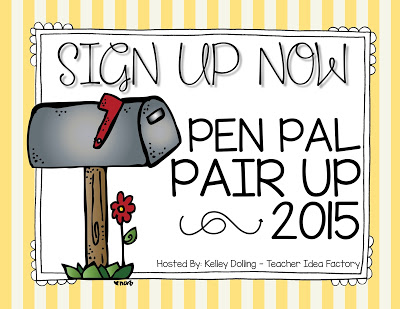 PEN PAL PAIR UP 2015 — TODAY IS THE DAY!