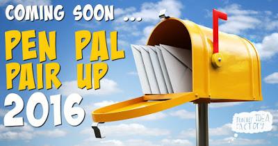 PEN PAL PAIR UP 2016 – COMING SOON