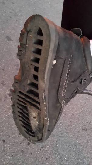 Damage done to normal shoes
