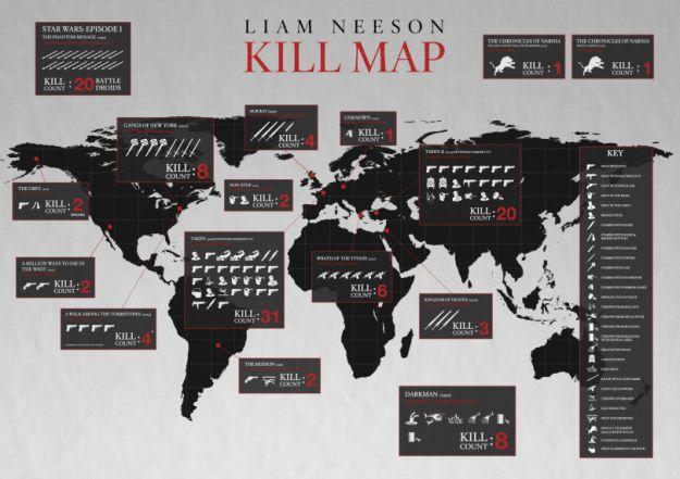 Taken Kill Map