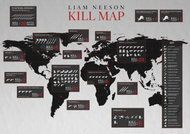 Taken Kill Map