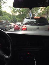 Fernando Calheiros Lima in a Sao Paulo traffic jam
