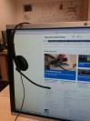 Marcin listening at work