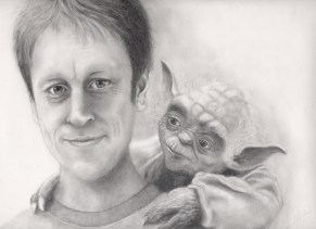 This is Sergio's illustration of me as a Jedi in training. :D There's another photo in the competition with Sergio doing the drawing - I consider them to be the same pic (this one https://teacherluke.co.uk/2016/01/20/327-the-lep-photo-competition-please-check-out-the-photos-and-vote/sergio-tellez-lep-jedi)