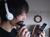 Tetsro - shaving in Japan with Philip's shaver - did you ask Philip before you borrowed it?