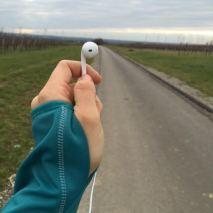romana from höflein, austria - running betwen vineyards