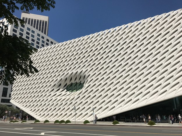 The Broad - we couldn't get in because of queues, but it looks cool