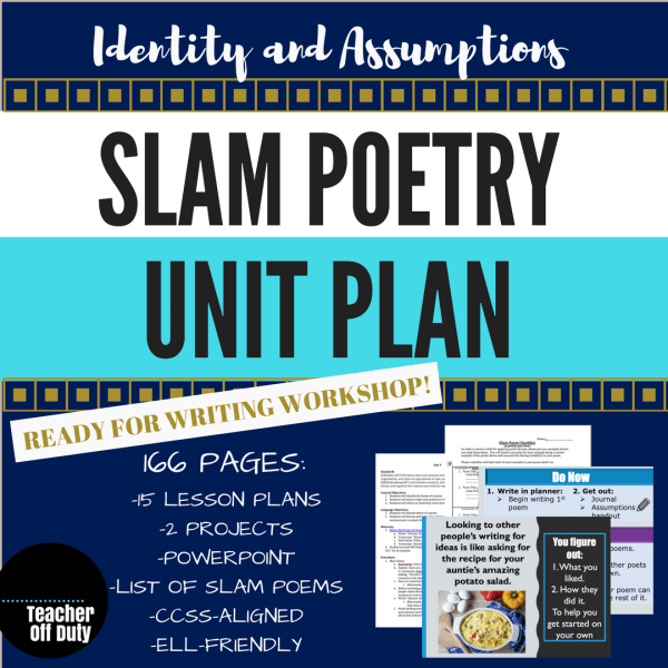 Slam Poetry Unit Plan--166 pages of lesson plans, power point slides, and poems your students will LOVE