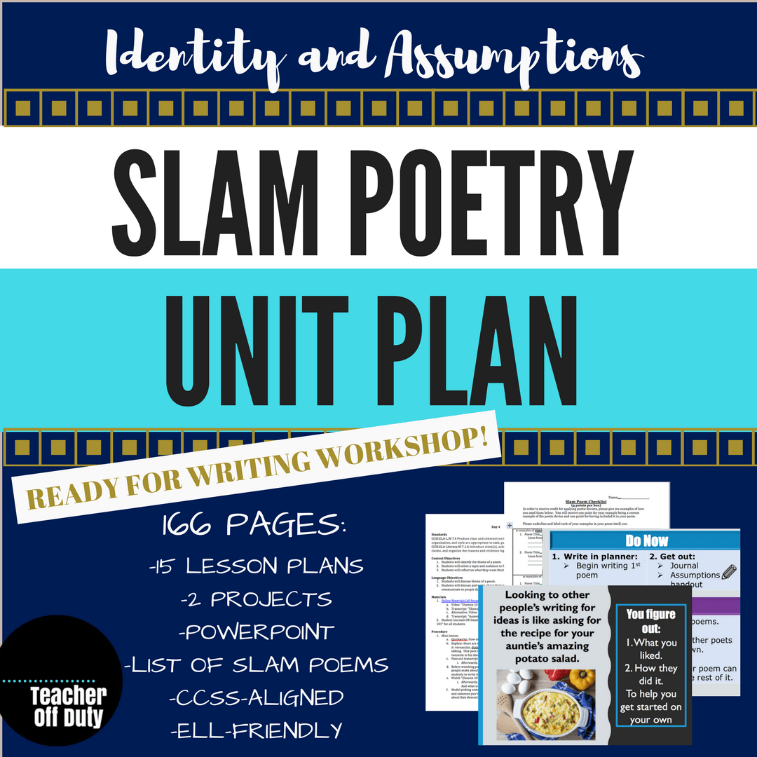 Slam Poetry Unit Plan Poems and Transcripts: Identity & Assumptions