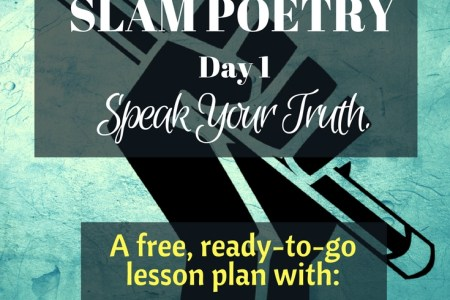 Slam Poetry Day 1  Speak  Your  Truth    Teacher Off Duty PERFECT way to get kids writing meaningful poetry  Slam Poetry Lesson Plan  to introduce your