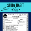FREE! A log for students to make long and short-term goals, as well as connect their specific study habits to their GPA success. This was an instant success with my students, parents, and administrators, and serves as awesome communiciation between the three, too