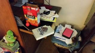 Monster desk before.