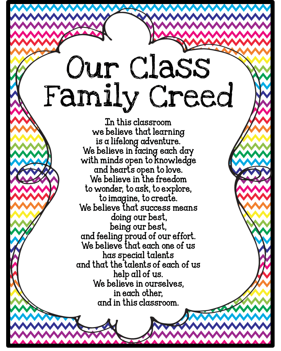 Class Family Rules And Beliefs