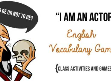 English Vocabulary Games and Glass Activities - I am an actor vocabulary game