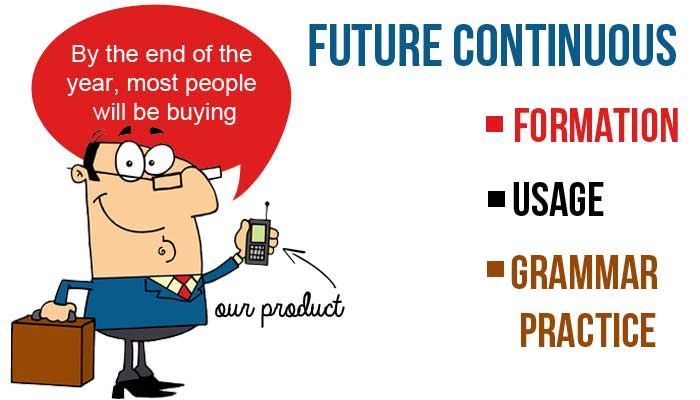 Future Continuous Tense in English - Formation, Grammar Practice and Usage