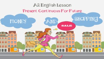 A2 Present Continuous For Future ESL lesson plan – Money and Shopping