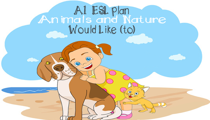 ESL beginner English Lesson plan - English Grammar - Would like to - English Vocabulary - Animals and Nature