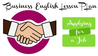 Business English Lesson Plan – Applying For A Job
