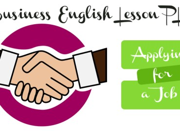 Business English Lesson Plan for ESL and EFL teachers - Applying For A Job