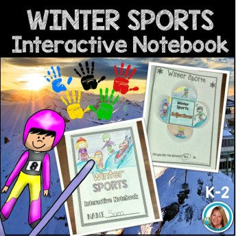 winter sports interactive notebook cover