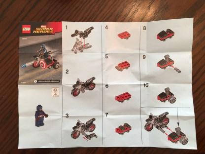 Directions for Lego Set- Captain America's Motorcycle