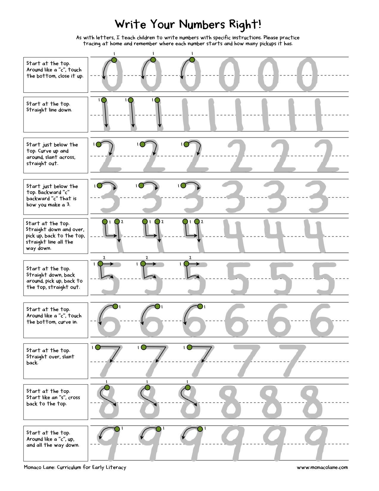 Written Numbers Pictures To Pin