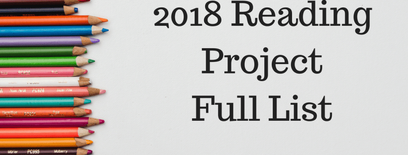 2018 Reading Project - Full list of books