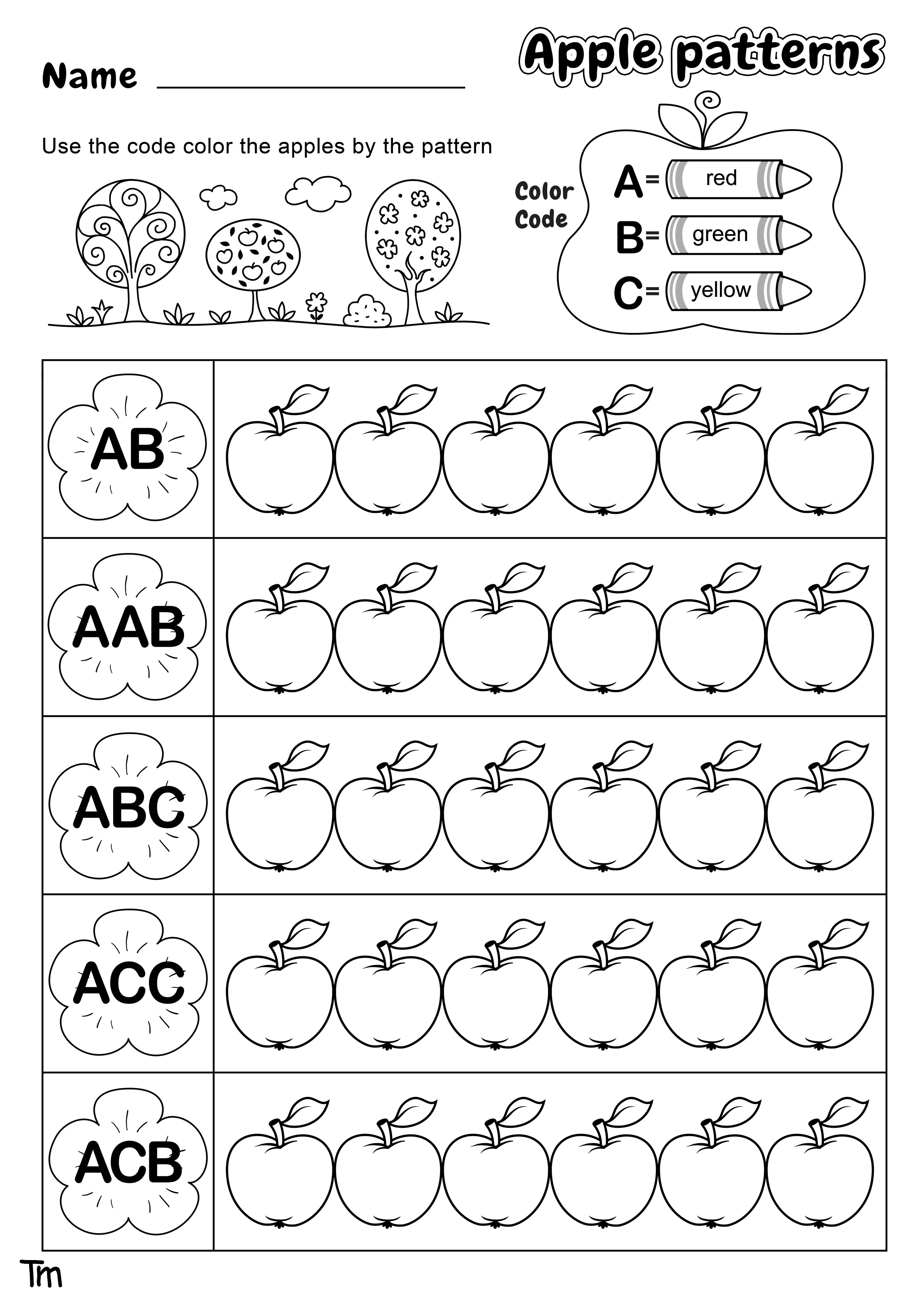 Apples Amp Where They Come From Preschool Theme Worksheets