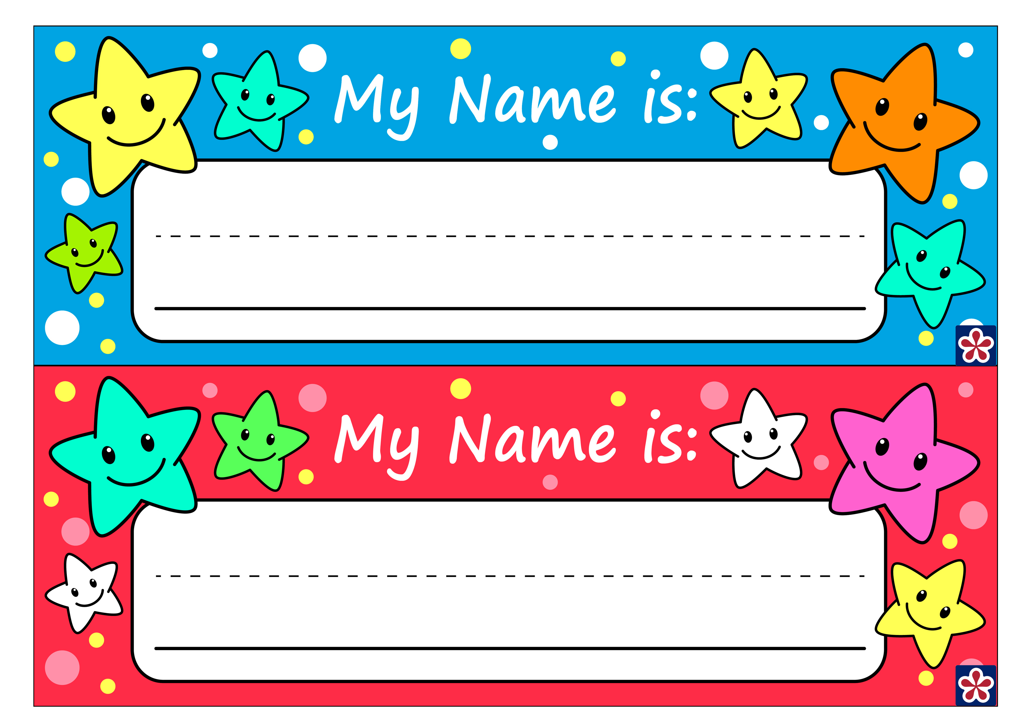 Free Printable Name Tags For Preschoolers Teachersmag